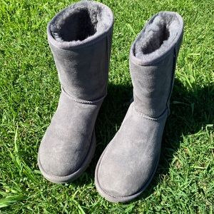 UGG 🛑 classic boot in grey color.